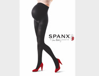 SPANX Mama Maternity Mid-Thigh Shaping Tights Very Black Size A