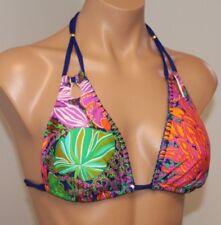 NWT Trina Turk Swimsuit Bikini Top Bra Sz 12 Halter MLT
