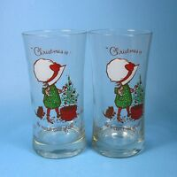 Holly Hobbie Tumblers Glasses 2 Christmas is the Nicest Time of All Tumbler