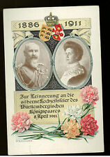 1911 Kunzelsau Germany RPPC Postcard Cover Wuerttemberg Royalty Flower Day