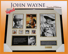 ON SALE!! JOHN WAYNE MEMORABILIA SIGNED FRAME LIMITED EDITION 499 w/ COA