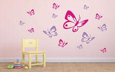 Wandtattoo ♥ 22 Schmetterlinge ♥ Kinder Kinderzimmer  ♥  2-farbig möglich ♥