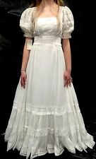RARE! NWT Vintage House Of Bianchi Boho/Hippie Gauzy Floaty Wedding Dress XS #19