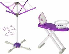 Casdon WASH DAY SET Toy Ironing Board Washing Line Peg Iron House Play BN