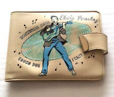 Elvis Presley 1956 Tan  Wallet  EPE - Elvis & Record in Center