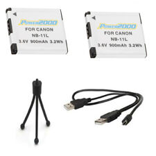 2X Canon Batteries + USB Cable + Tripod for PowerShot ELPH 360 HS, SX420 IS,
