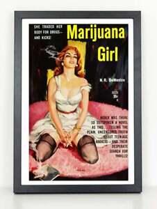 Marijuana Girl Novel Cover Poster -  Poster