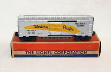 Postwar Lionel 6464-100 Western Pacific Boxcar~Silver/Yellow Feather~w/Nice OB