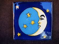 Mexican Tile Moon and stars and  4x4, Wall art, talavera, supply