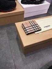 Classic Burberry Bi Fold Wallet Brand New