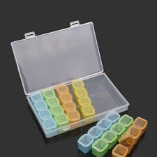 Nail Art Empty Container Storage Box 28-Compartments Divided for 3D Decoration