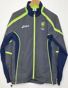 Asics Australian Cricket Team Grey Lightweight Training Jacket, size Small GUC