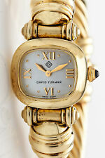 Estate $11,000 David Yurman 14k Yellow Gold MOP Ladies CABLE Watch 61g HEAVY