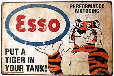 Tony The Tiger ESSO Metal Tin Plate Sign Vintage Cafe Pub Bar Retro Plaque