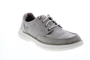 Skechers Doveno Orven 204052 Mens Gray Oxfords & Lace Ups Plain Toe Shoes