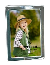 """Iron Nickel Plated Silver Photo Picture Frame 4 x 6 """" Portrait Landscape Gift"""