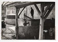 """PHOTO DE PRESSE Agence L.A.P.I Vichy  """"Le Gaz à la Ferme"""" Cuve Vers 1950"""