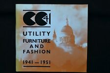 More details for cc41 utility furniture and fashion 1941-1951 exhibition catalogue geffrye