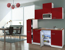 Cuisine Single Pièces de Cuisine Bloc de Cuisine Mini Cuisine 180 cm Blanc Rouge