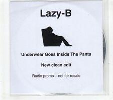 (GR995) Lazy-B, Underwear Goes Inside The Pants - DJ CD