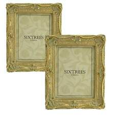 "TWINPACK Very Ornate Shabby Chic Antique Gold Photo Frames for  8""x6"" Pictures"