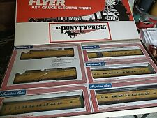 American Flyer 1990 Pony Express Passenger Set With 3 Bonus Cars AMF 49600
