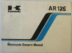KAWASAKI AR125 Motorcycle Owners Handbook 1985 #99922-1382-01