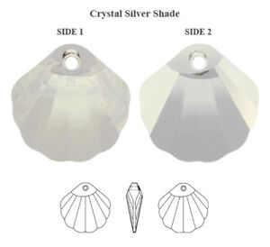 Genuine SWAROVSKI 6723 Shell Crystals Pendants * Many Colors & Sizes