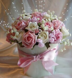 Wedding Flowers Party table Decoration Rose & Pearl Bucket Reception Registrar