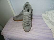 Original Mens Balenciaga Arena High Shine Smooth Grey Leather Sz UK 7/EU 41