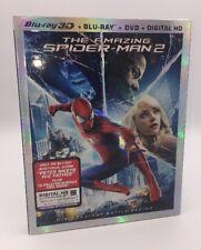Amazing Spider-Man 2 in 3D, The (Blu-ray 3D+Blu-ray+DVD+Digital, 2014; 3-Discs)