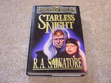 R.A. Salvatore Forgotten Realms Starless Night hardcover novel - 1st printing