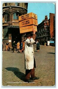 Postcard A Billingsgate Fish Porter London