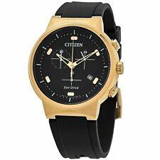 Citizen Hombre Eco-Drive Chrono Reloj De Oro Rosa Estuche AT2403-15E