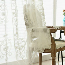 French Embroidery Floral Net Curtain Pelmet Tulle Voile Window Panel Drape Sheer