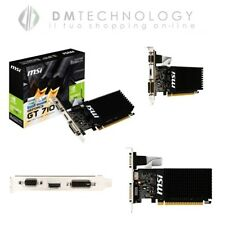 SCHEDA VIDEO 2GB GDDR3 GEFORCE GT 710 MSI NVIDIA 954MHZ VGA DVI HDMI 2GD3H LP