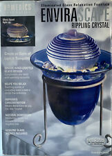 HoMEDICS Tabletop Relaxation Fountain ENVIRASCAPE Rippling Crystal Blue New