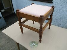 PINE  SQUARE TOP  FOOT  STOOL.  FREE  DELIVERY.