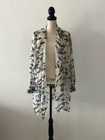Armani Collezioni Silk Floral Open Blouse Size 44 US XL