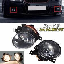Pair Front Bumper Fog Driving Light w/ H11 Bulbs For VW MK5 Golf Jetta GTI 05-10