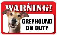 Greyhound Sign - Laminated Card - Beware of Dog 20cm X 12cm