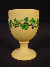 RARE 1800s SIGNED SPRIG DECORATED EGG CUP YELLOW WARE CANE CANEWARE MINT