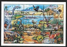 GEORGIA SC 145 NH issue of 1996 - MINISHEET - Dinosaurs