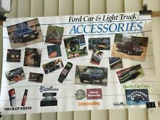 """1988 Ford Car And Ford Light Truck Accessories Dealership Showroom Poster """"Nos"""""""
