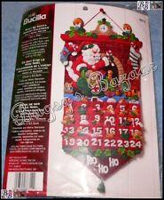 Bucilla MUST BE SANTA Felt Appliqué Christmas Advent Calendar Kit - 86312
