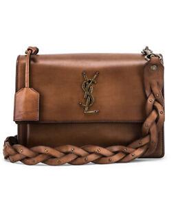 YSL Saint Laurent Brown Tan Sunset Medium Leather Bag RRP $4400 BNIB Sold Out!