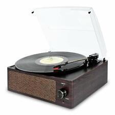 Bluetooth Vintage Vinyl Record Player Belt-Driven 3-Speed Turntable  Aux Input