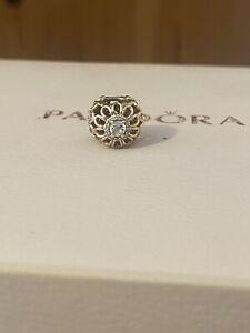 Pandora 14ct Gold Floral Brilliance Openwork Charm