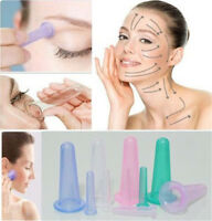 1/5pcs Silicone Massage Vacuum Body Eye Facial Care Anti Cellulite Cupping Cup