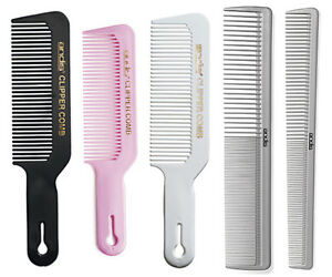 Andis Barber Stylist Clipper Comb; Cutting, Flat Top, Taper - Black, White, Grey